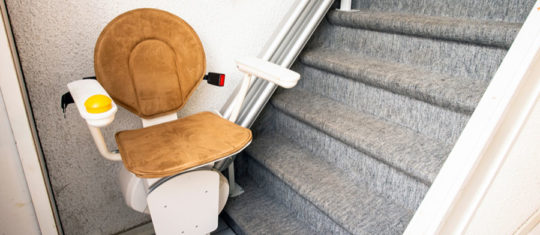 Installation de monte-escalier domestique